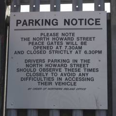 Belfast ___ Peace Gate Parking Notice.jpg