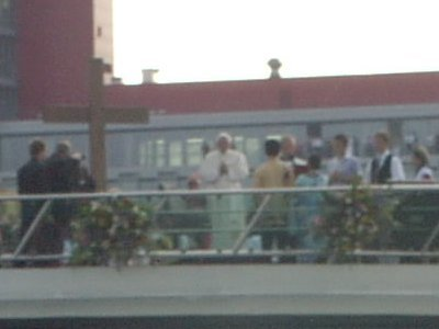 Papst Benedikt auf dem Rhein