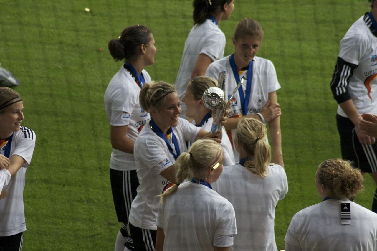 U20 national team of Germany with the World Cup Trophy